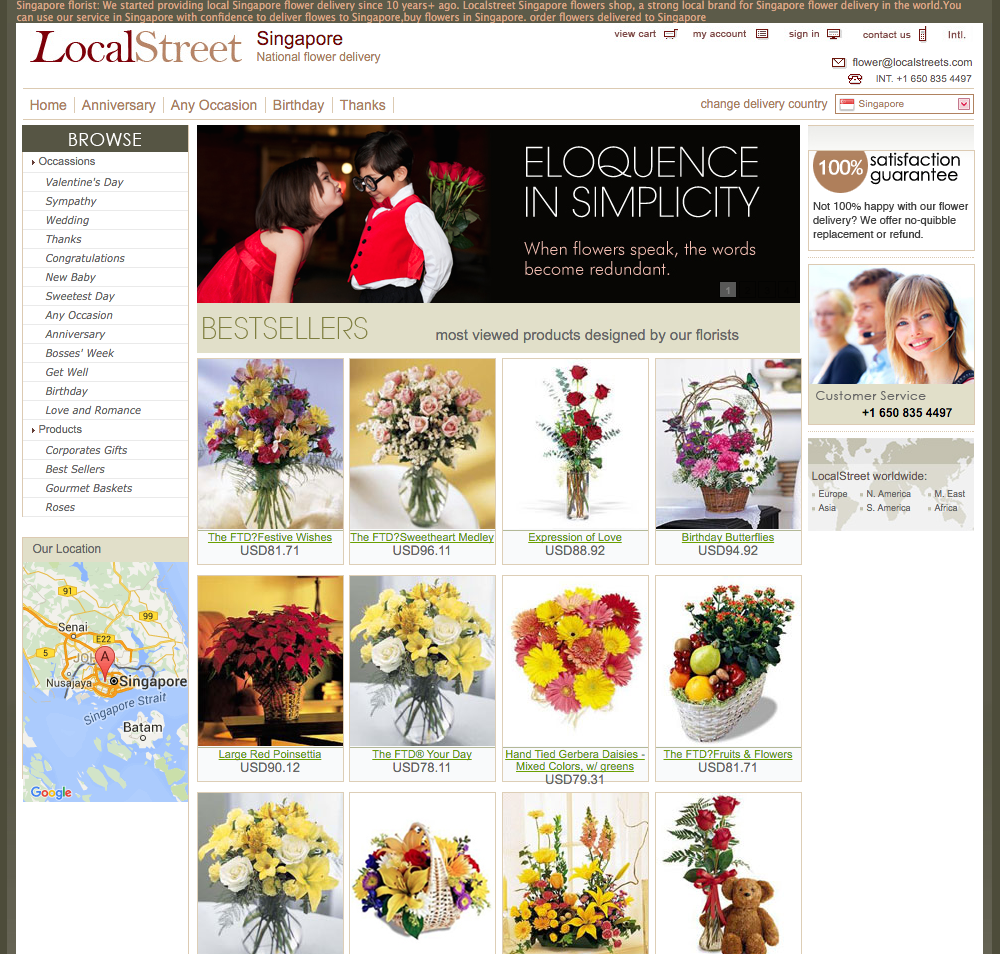 LocalStreet Singapore Website