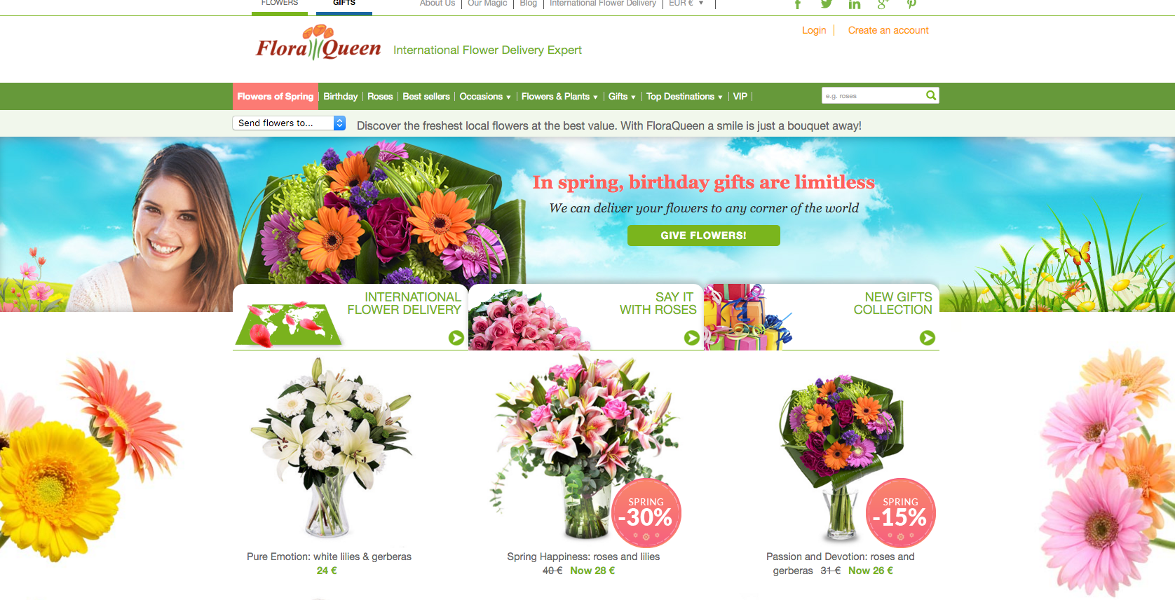 FloraQueen Website
