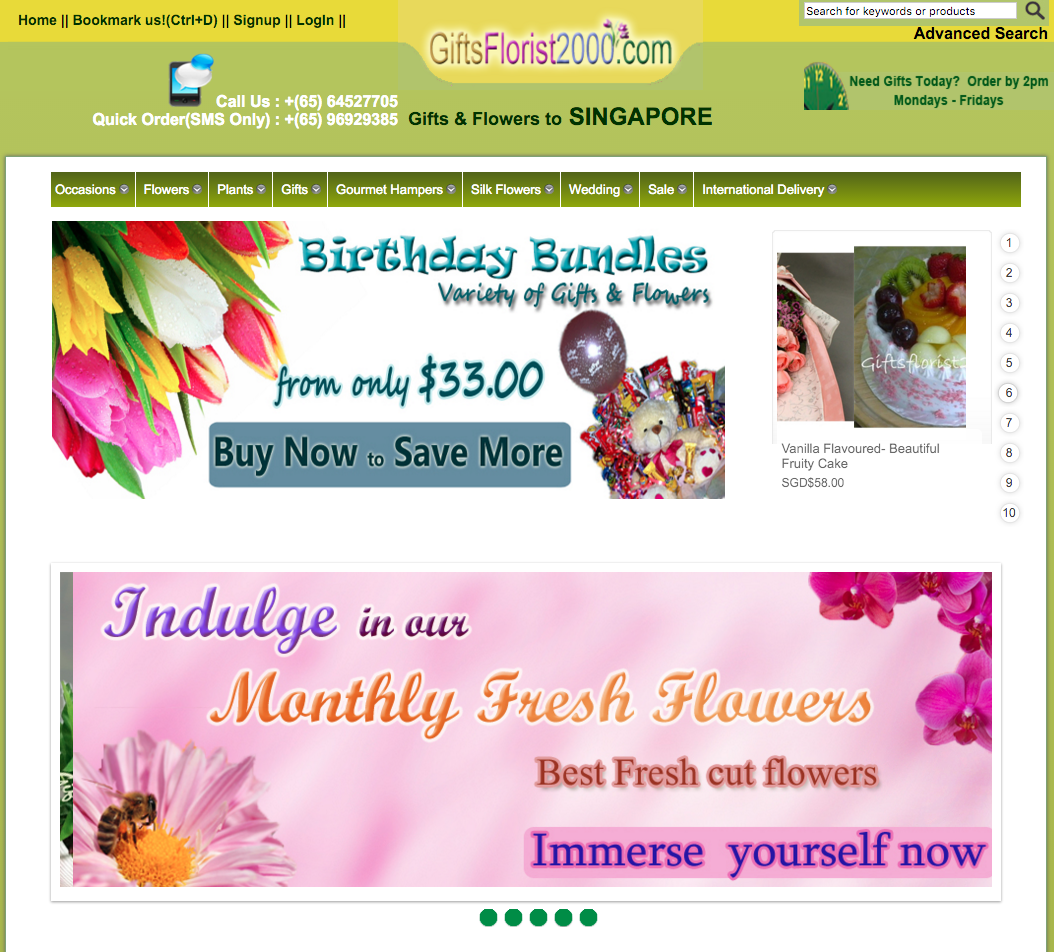 Gifts Florist 2000 Website
