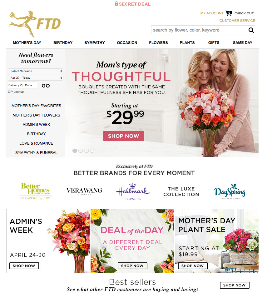 FTD Flowers Website