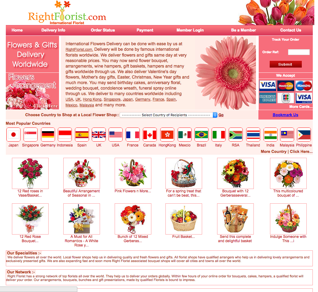 Right Florist Website